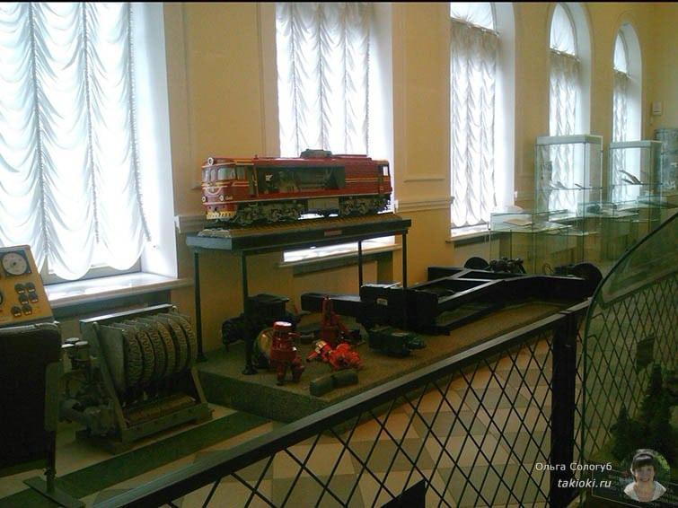 Паровоз в музее Музей железной дороги в Екатеринбурге