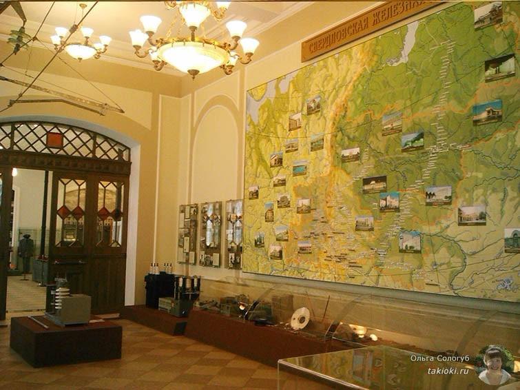 Карта в музее Свердловской железной дороги