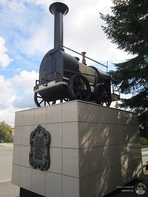 Макет первого паровоза в России Нижний Тагил