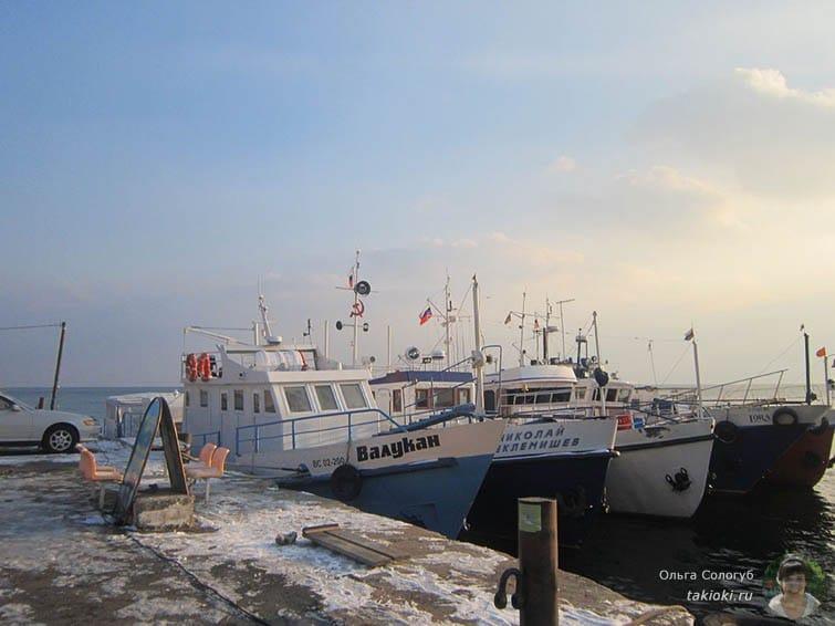 Катера на озере Байкал