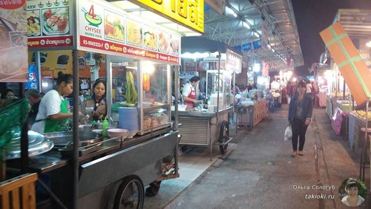 Ночной рынок в Тайланде