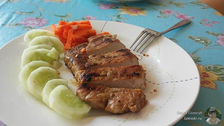 Мясо на гриль-сковороде. Первый раз попробовали