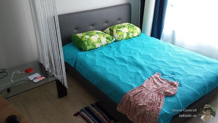 Кровать в новом кондо