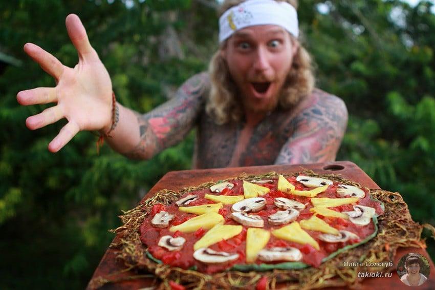 сыроедческая пица