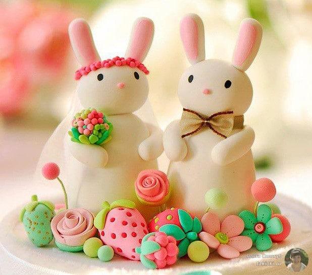 кролики из сахарной пудры