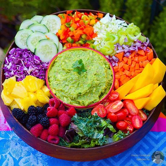 фруктово-овощьная тарелка