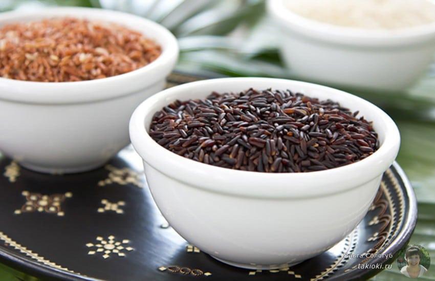 низкокалорийный дикий рис