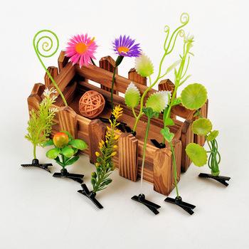 2015 последний творческий высокой траве шпилька на голове прихоть ростки фасоли шпилька ростки фасоли клип шоу мчс артефакт 68 шт./лот
