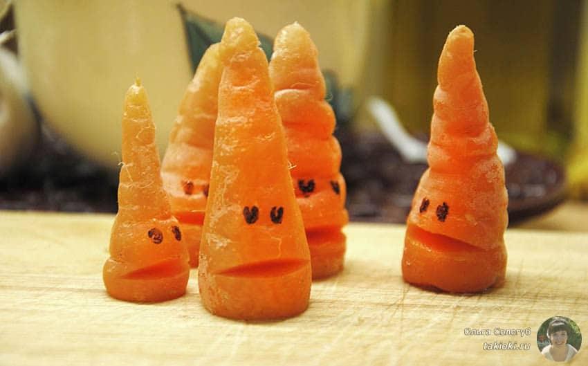низкокалорийные морковки