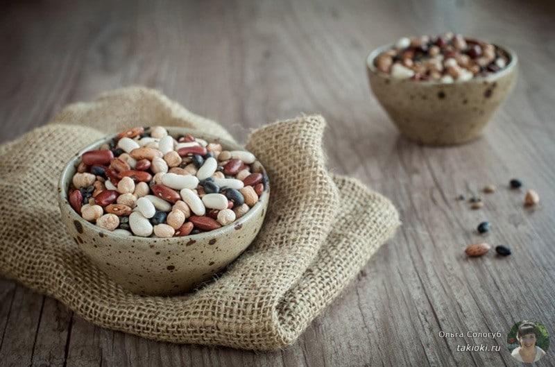 тарелки с бобовыми