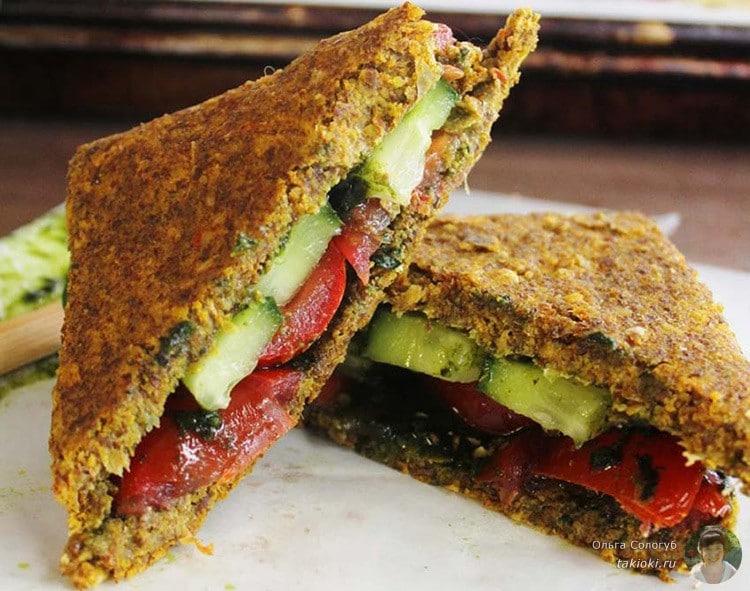 сыроедческий бутерброд