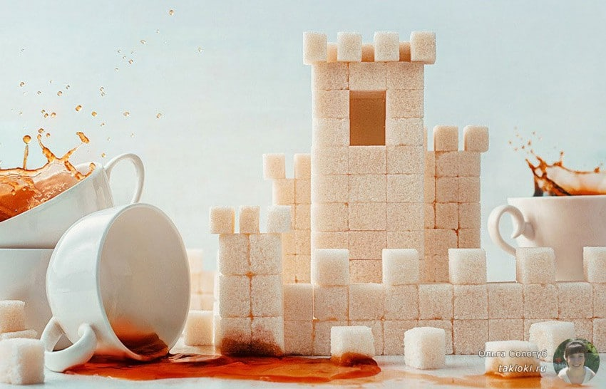 замок из сахара