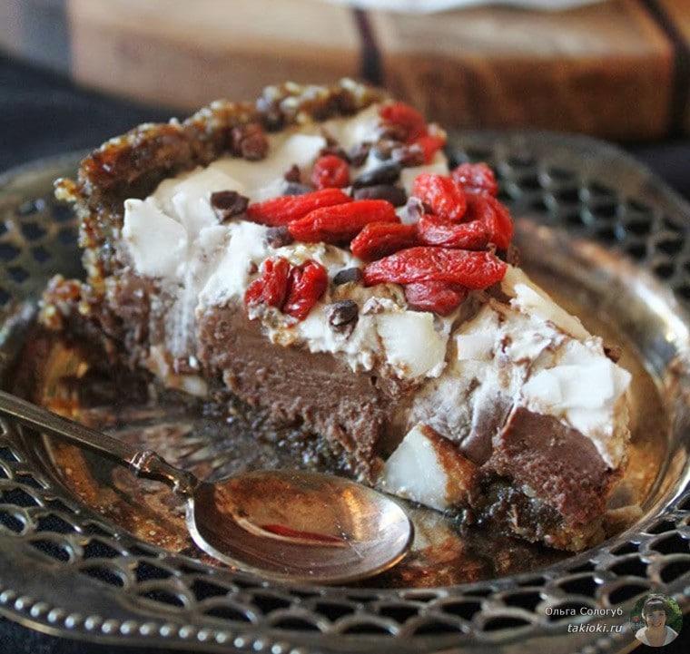 сыроедческий шоколадный пудинг с кокосом