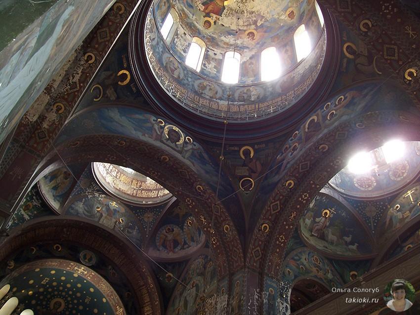 монастырь в Новом Афоне изнутри