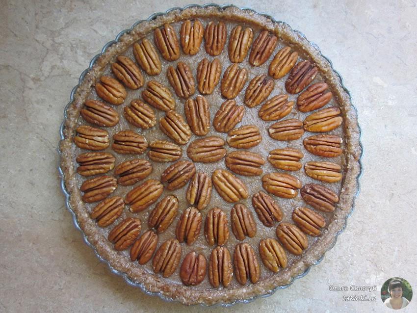 Ореховый пирог для сыроедов