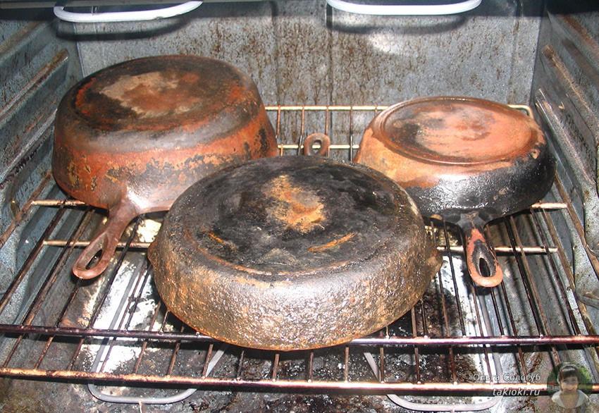 Как почистить чугунную сковороду в домашних условиях от ржавчины 274
