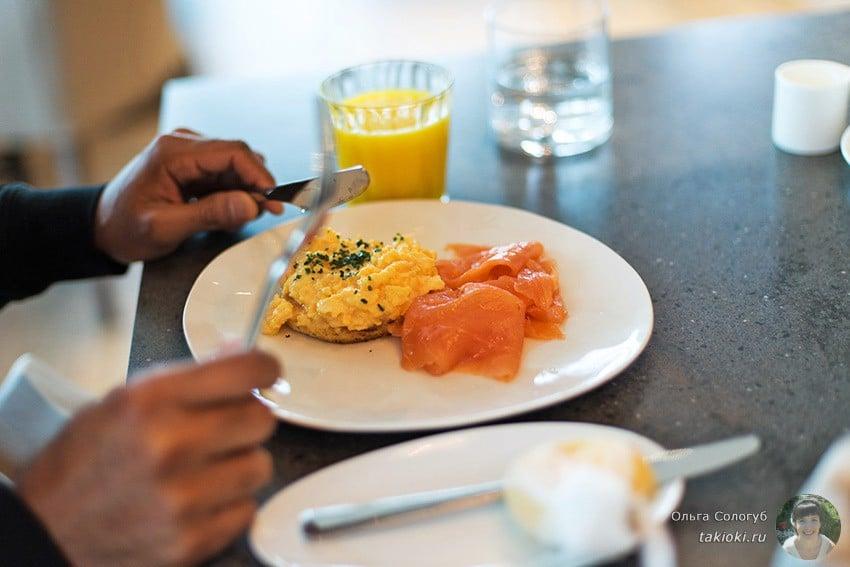 меню на завтрак