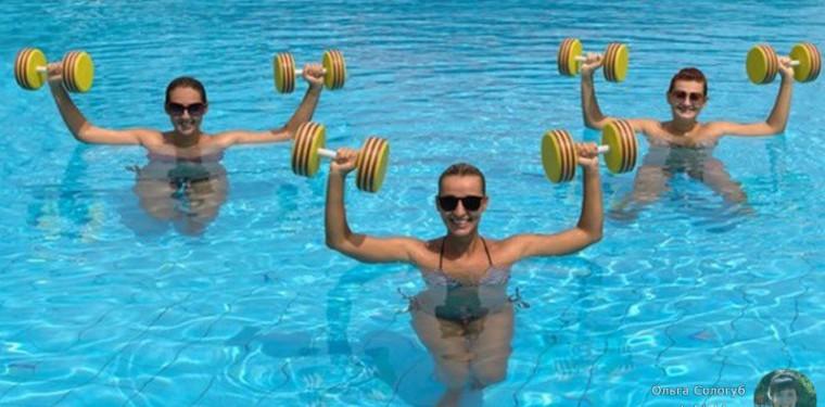 Упражнения в воде для похудения живота, ног и боков