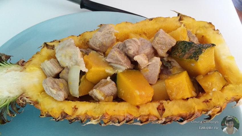 курица с ананасом в мультиварке рецепт с фото