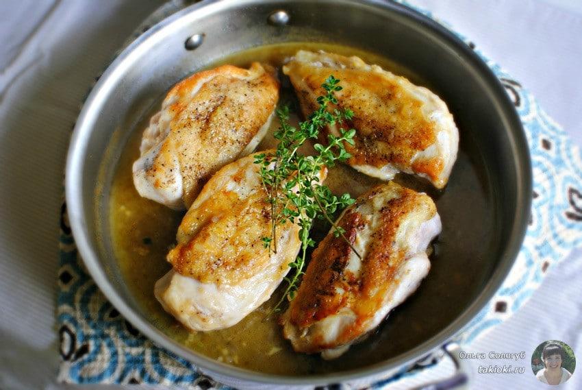 сколько жарить куриные отбивные на сковороде в кляре