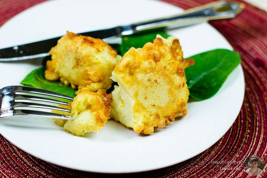 как приготовить цветную капусту вкусно на сковороде в кляре с сыром