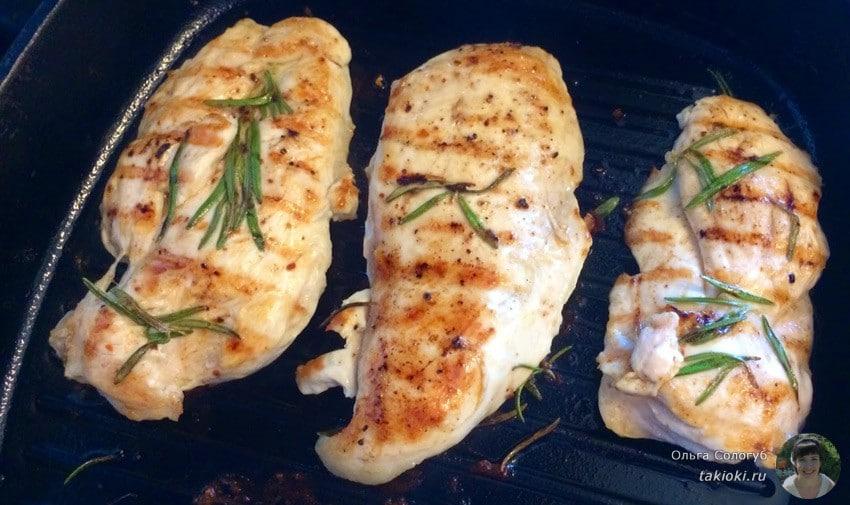жарим филе без масла со сливками