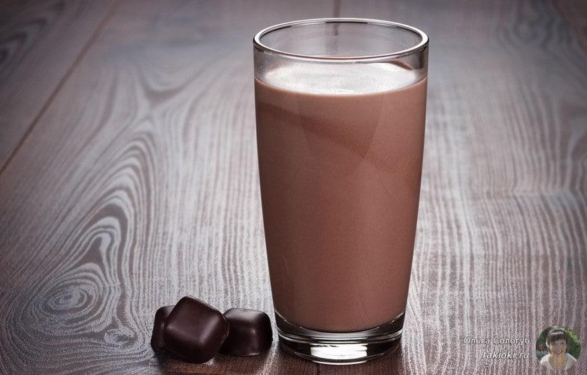 шоколадный коктейль рецепт с фото