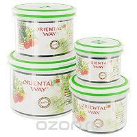 Набор контейнеров для СВЧ/холодильника Oriental way Simple control 4 шт GL9056-В