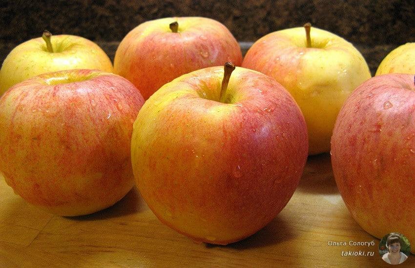 как сделать печеные яблоки без начинки для малыша