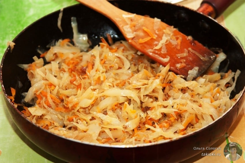 Тушение капусты на сковороде