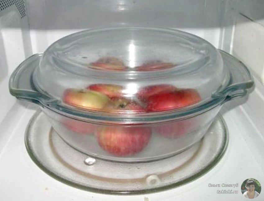 запекание яблок польза и вред