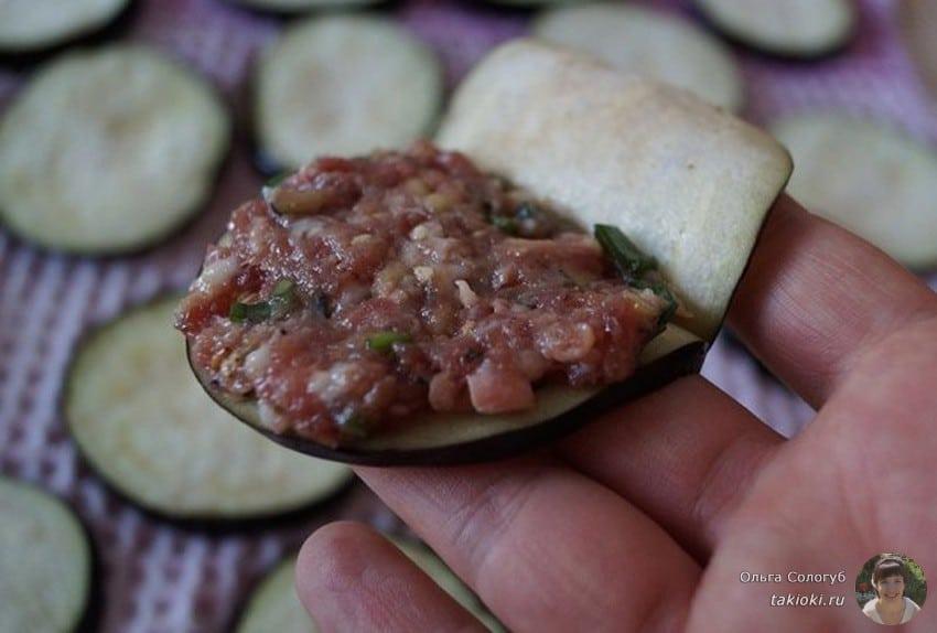 баклажаны с мясом на сковороде