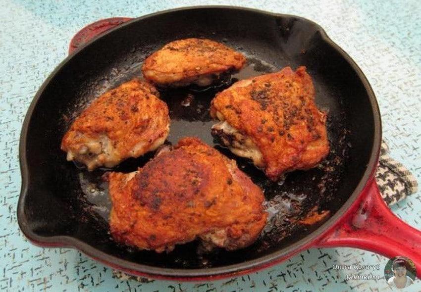 Как приготовить бедро курицы на сковороде рецепт пошагово