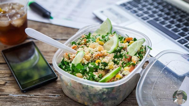 как правильно питаться на работе чтобы не потолстеть
