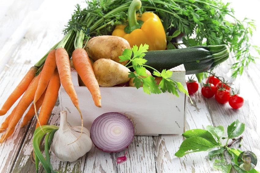 рецепты овощных блюд на неделю