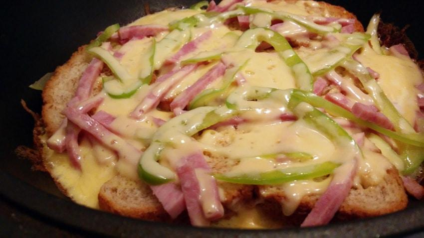 ленивая пицца на сковороде рецепт с фото