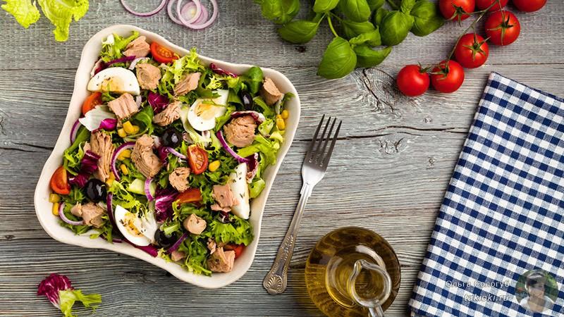 готовим белковый салат для восстановления сил
