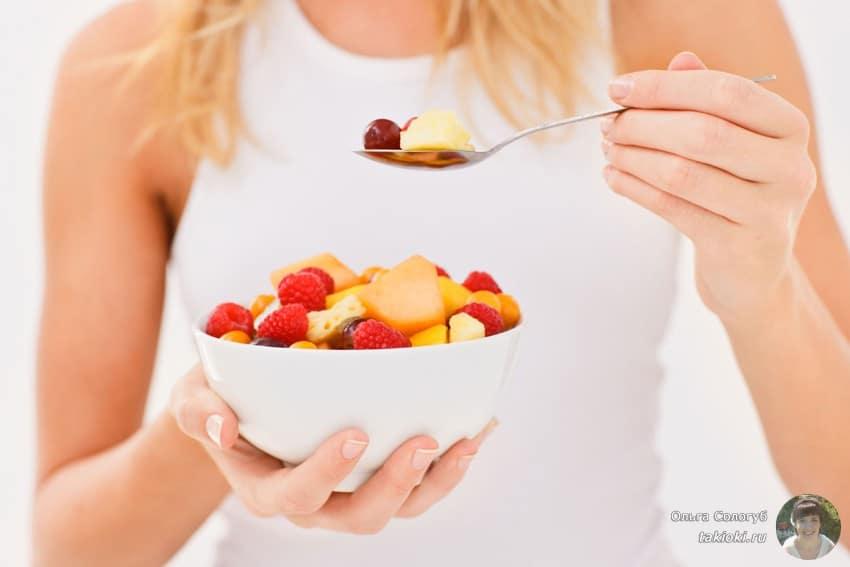 какие фрукты можно кушать на ночь