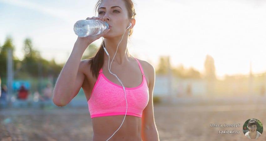 сколько пить воды спортсменам