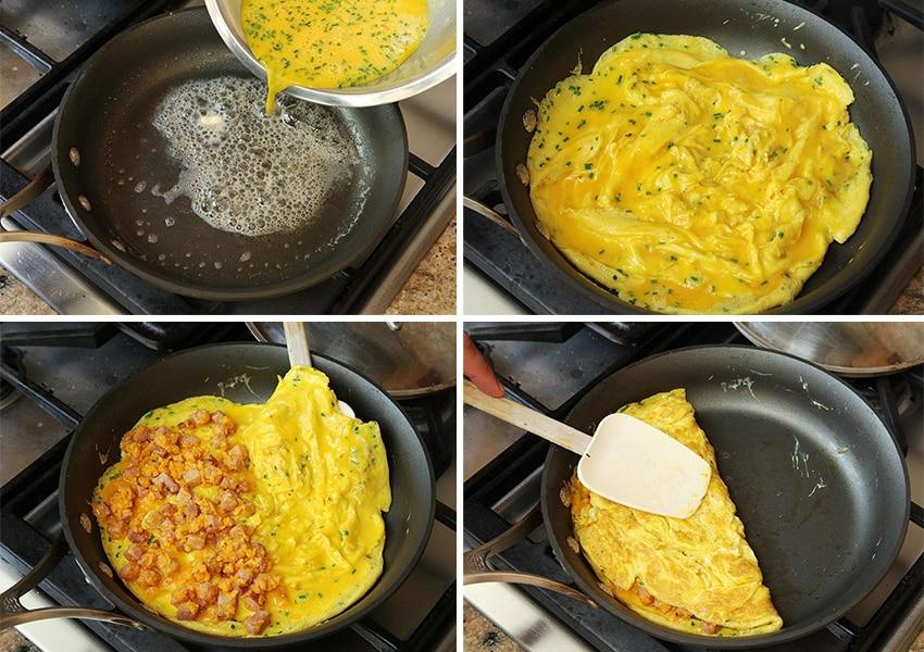 Рецепт приготовления омлета на сковороде с фото