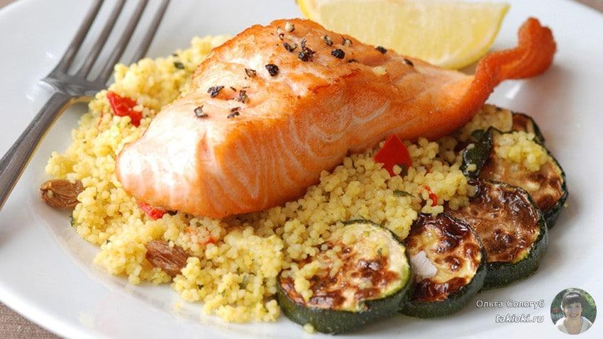 польза лосося для спортивного питания