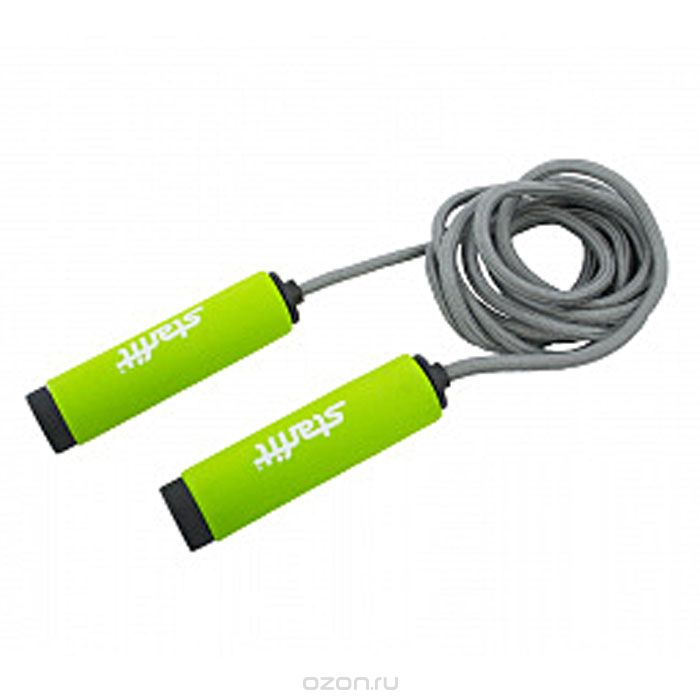"Скакалка ""Star Fit"", цвет: зеленый, черный. RP-105"