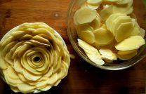 Рецепт с фото необычного запеченного картофеля в духовке для праздничного стола