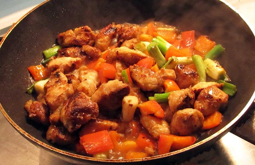 как вкусно приготовить курицу с грибами на сковороде рецепты