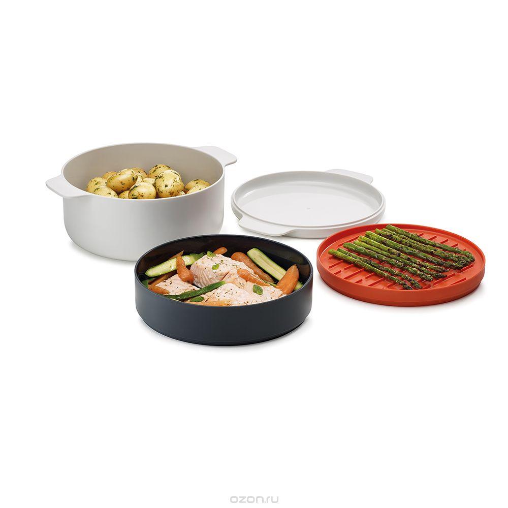 """Пароварочный набор для микроволновой печи Joseph Joseph """"M-Cuisine"""", 4 предмета"""