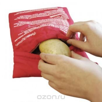 """Рукав для запекания картофеля в микроволновой печи """"Bradex"""", цвет: красный, 24 х 20 см"""