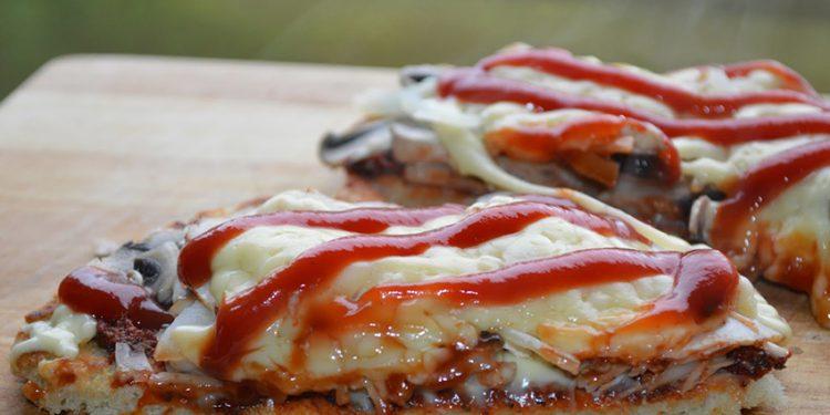 Пицца приготовить быстро без сыра