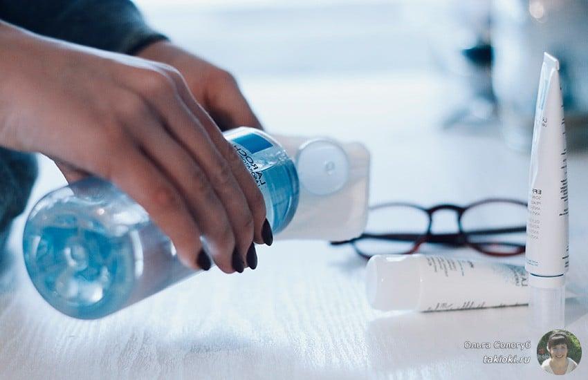 нужно ли смывать мицелярную воду