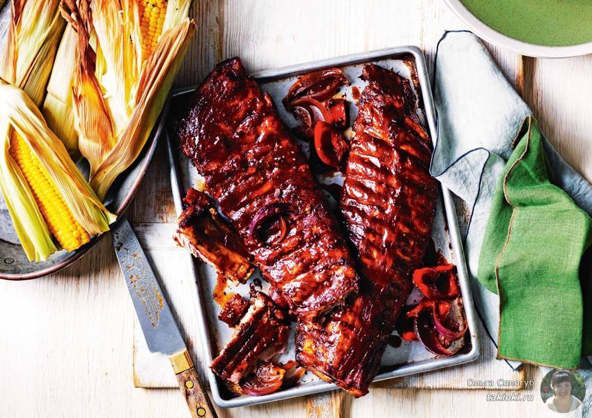 как мариновать свиные ребрышки с медом и соевым соусом
