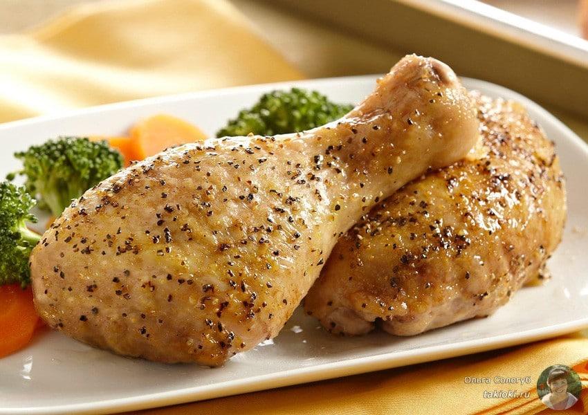 запекаем куриные голени в рукаве без гриля